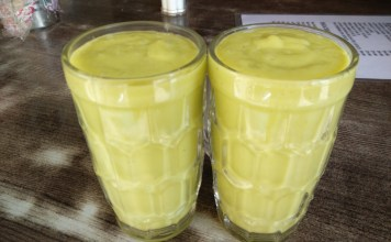 Butter Fruit Milkshake @ New Pragathi Juice & Chats, Uttarahalli Main Road