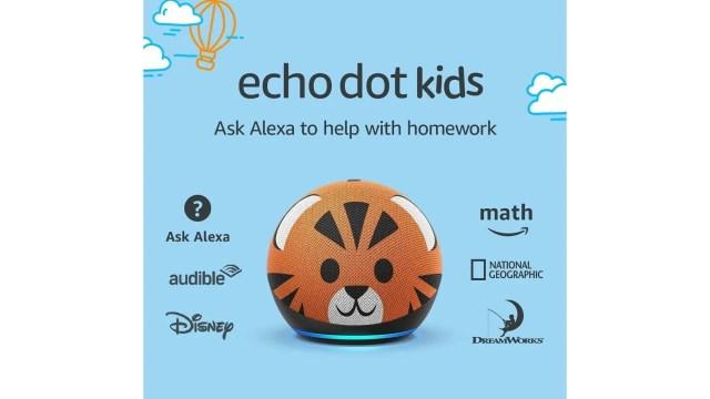 amazon echo dot kids tiger design