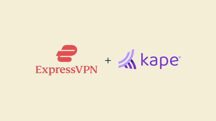 The ExpressVPN and Kape logos.