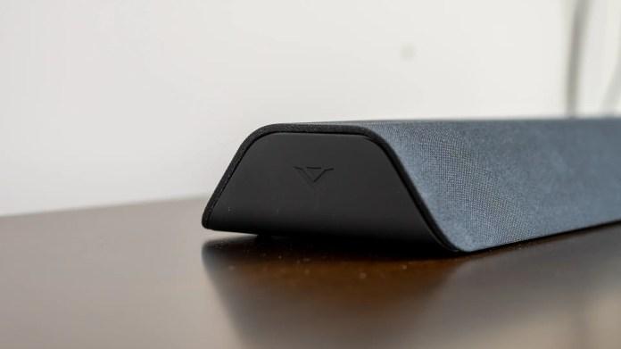 V21d-J8 soundbar with the Vizio logo on the side