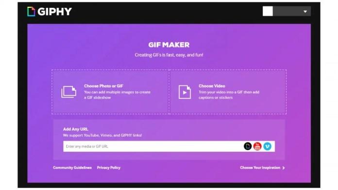 Giphy web GIF maker