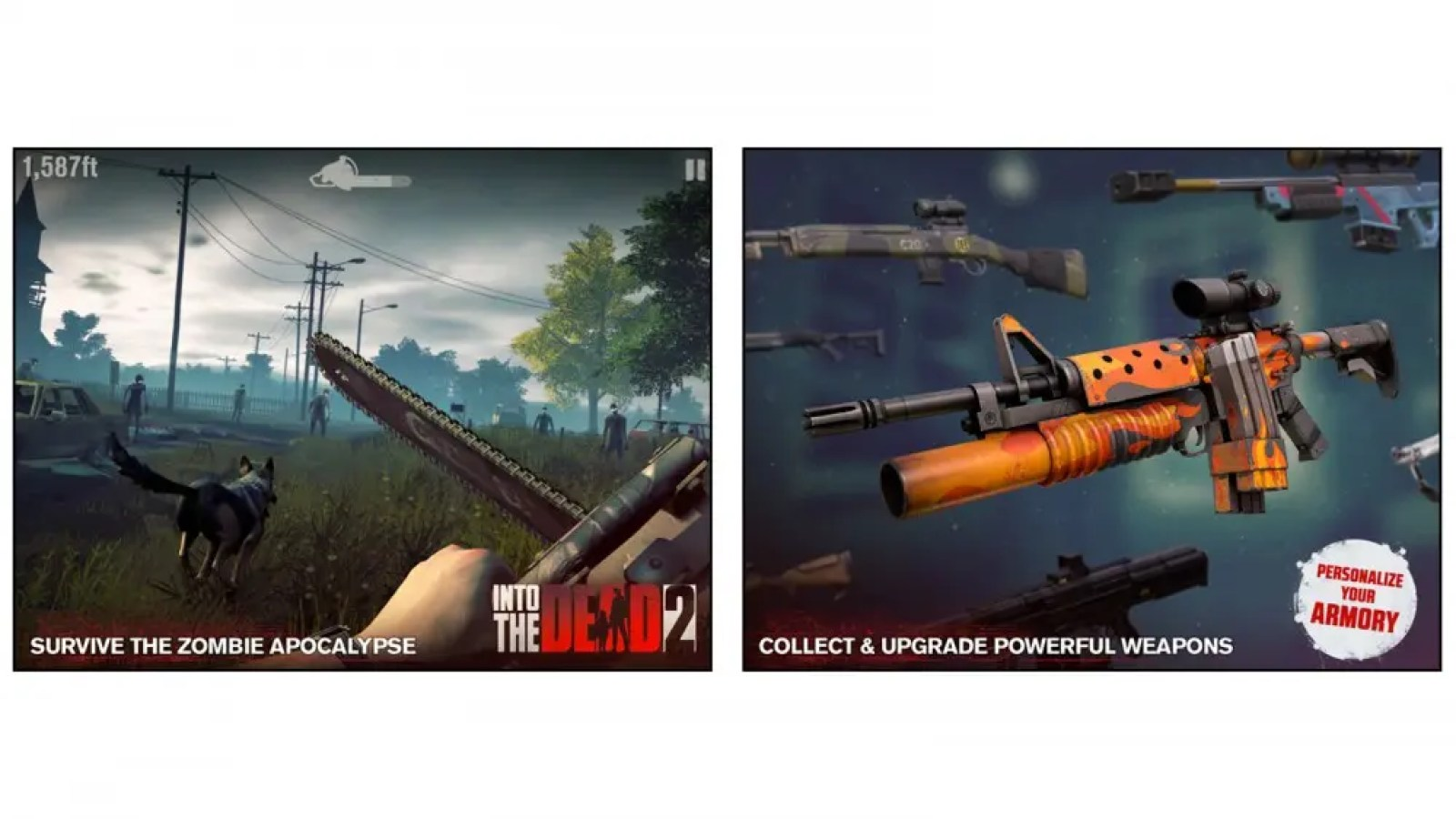 Into the Dead 2 zombie action survival horror game for iOS and Android