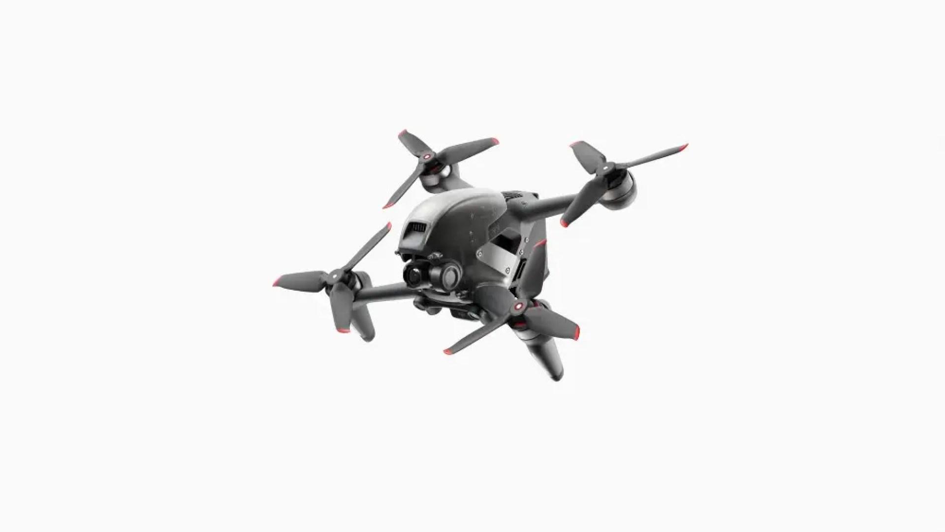 A closeup of the DJI FPV Drone