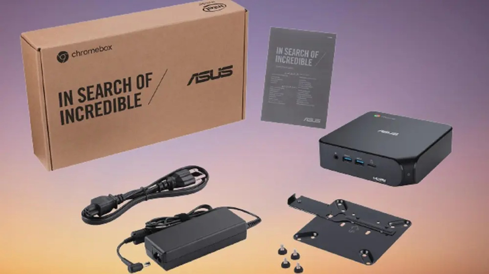 The ASUS Chromebox 4 and all included hardware