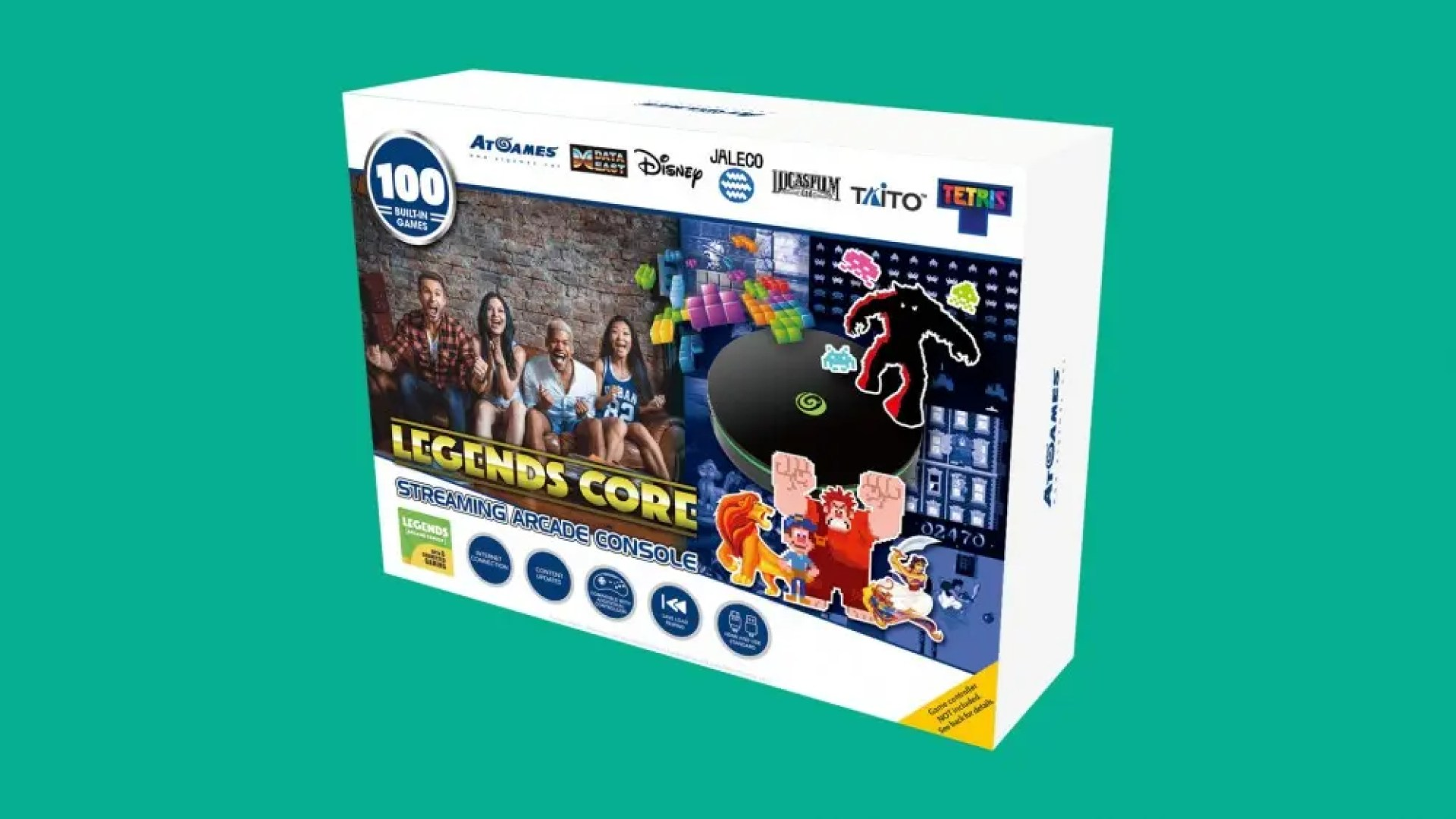 The AtGames Legends Core box showing 100 games.