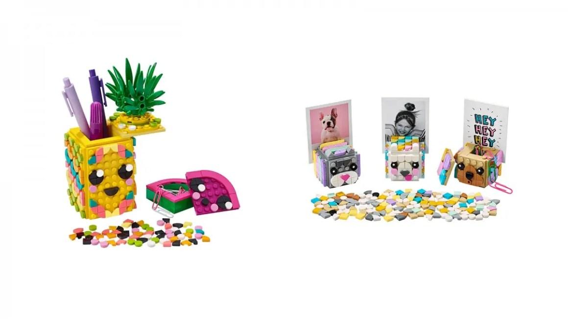 LEGO DOTS Держатель для карандашей с ананасами и картинные держатели для животных