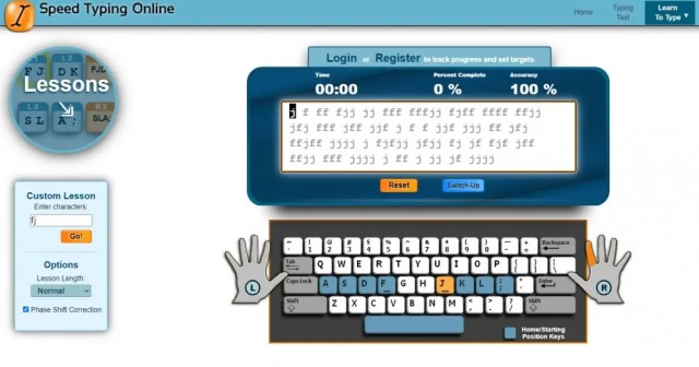 Speed Typing Online customized typing lessons free typing lessons