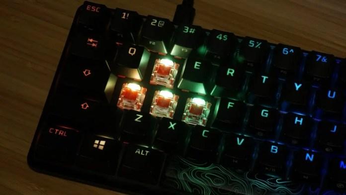 HyperX Alloy Origins 60 illuminated switches
