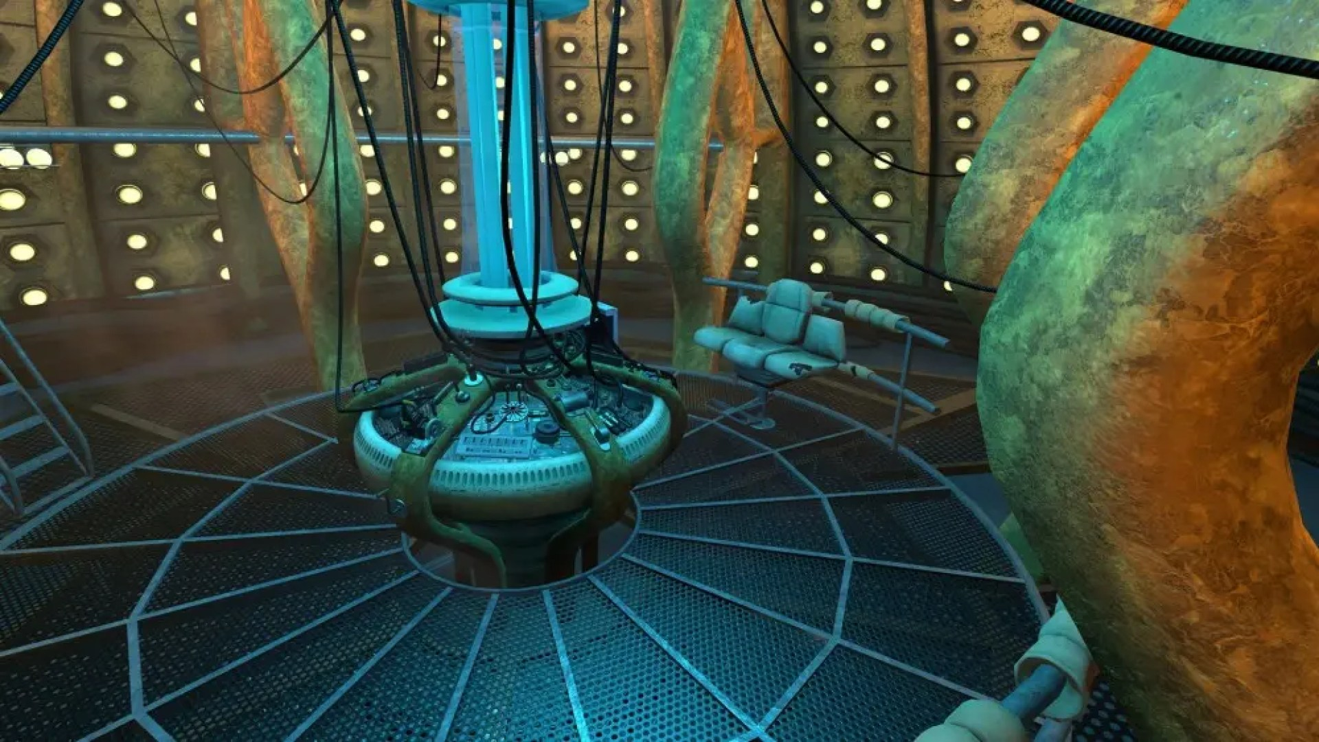 Another angle of the TARDIS interior