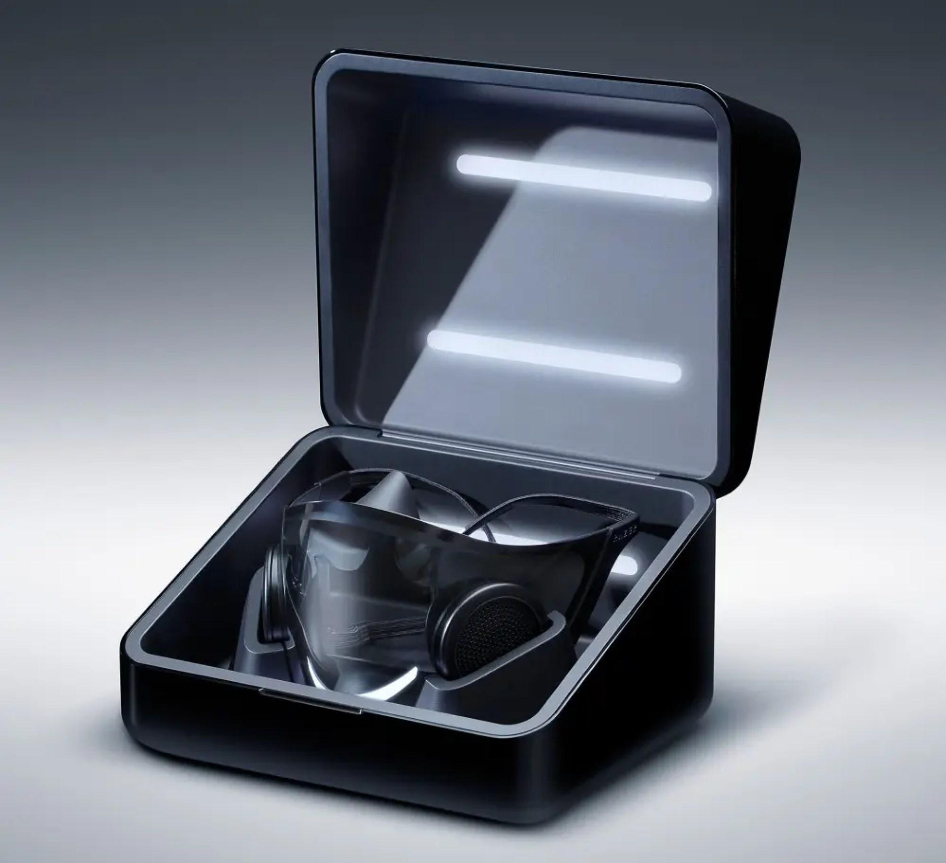 Razer Project Hazel mask UV charging case