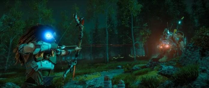 Horizon Zero Dawn combat screenshot