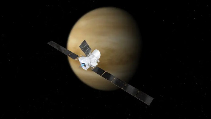 The BepiColumbo passing by Venus on its way to Mercury