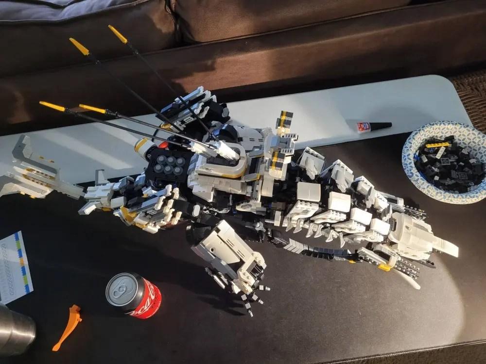LEGO Thunderjaw, from top