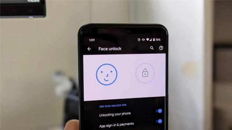Face unlock on the Pixel 4 XL