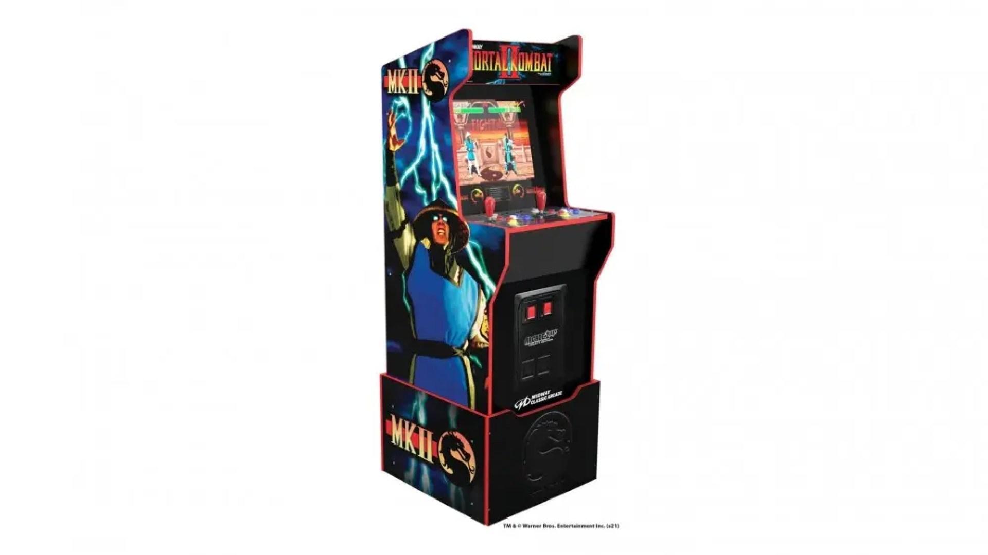The 'Mortal Kombat' machine, showing faux coin slots.