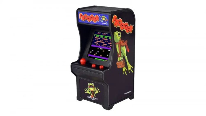 Tiny Arcade Frogger cabinet