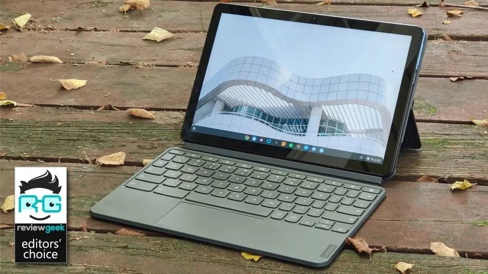 Chromebook Duet в режиме ноутбука