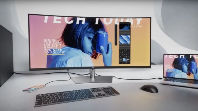 Dell 4-inch ultrawide monitor