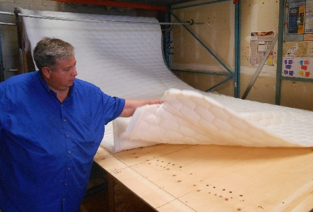Mattress Paloma Owner Granados Inspects Foam Topping July 17 At 2257 W Gowan
