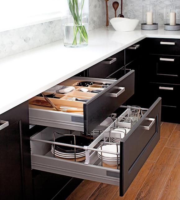 kitchen pull out shelves sears appliance package deals garages help organize las courtesy ikea organizers from turn chaotic drawers and hard to reach corners
