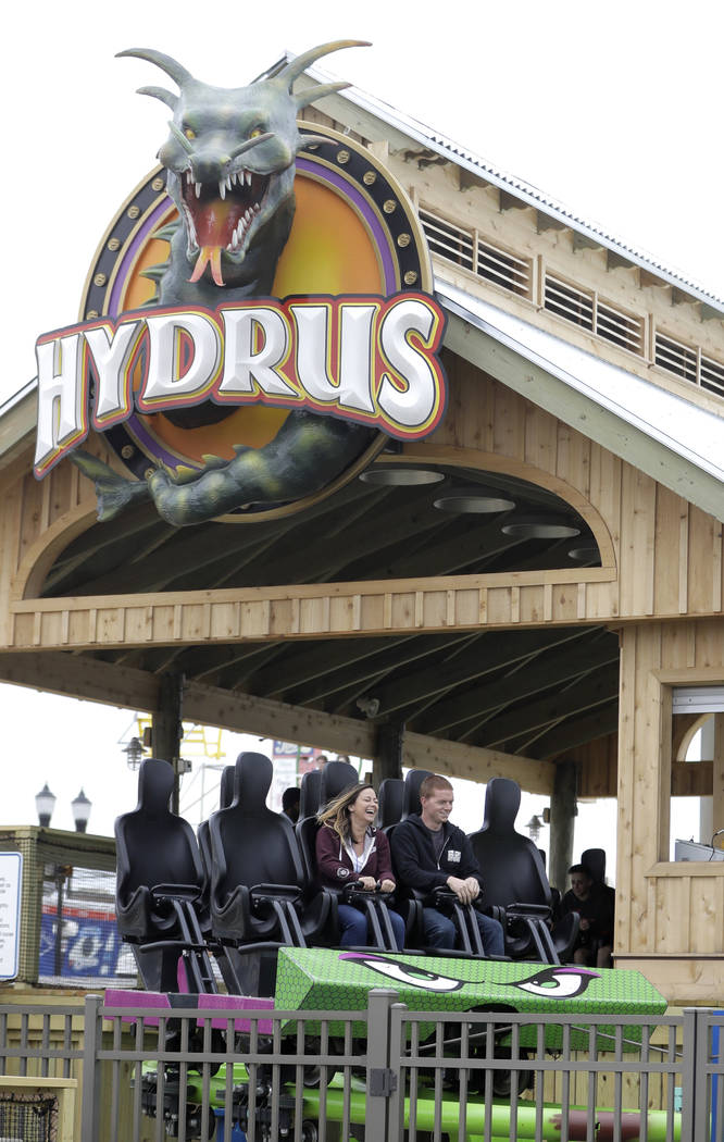 old people chair lift for stool jersey shore roller coaster replaces one destroyed by sandy | las vegas review-journal