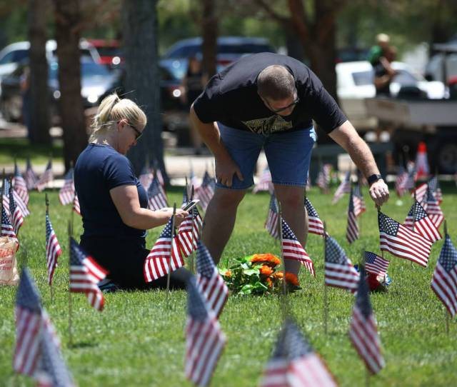 Gus Chaltas Visits His Parents Grave With His Wife Jennifer On Memorial Day At The
