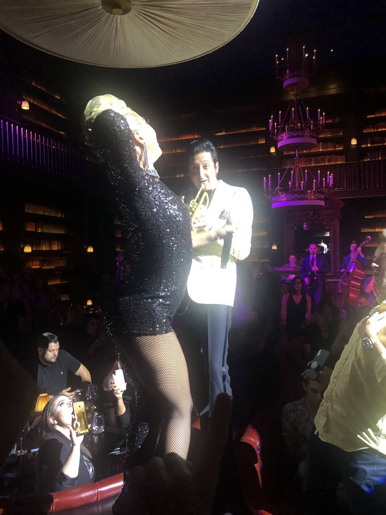 Lady Gaga Stanley Cup Raptors in Las Vegas Strip party