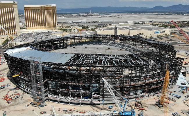 Raiders Builders Set Topping Out Ceremony At Las Vegas