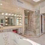 The Master Bath Features A Large Shower And Jacuzzi Tub That Lights Up And Turns Colors Narte Las Vegas Review Journal