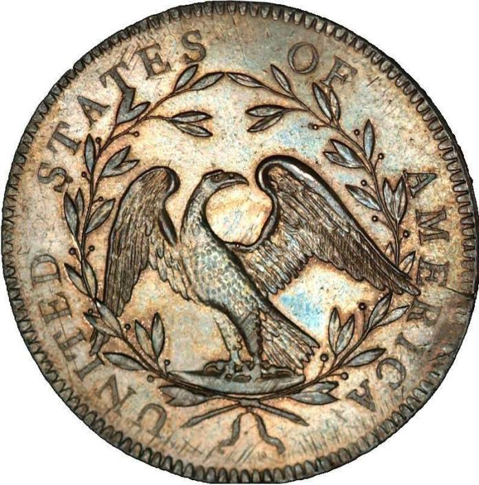 Experts revel in the coin's idiosyncrasies, such as the scrawny-looking eagle on the reverse ...