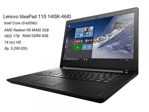 Harga Lenovo IdeaPad 110 14ISK-46ID dan Spesifikasi