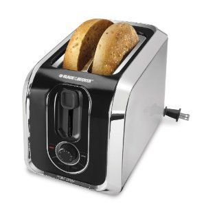 Black & Decker 2-Slice Toaster Retractable Cord TR1400SB