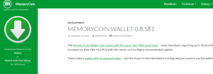memorycoin website
