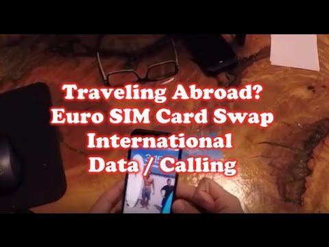 Traveling Abroad – Euro SIM Card Swap on Iphone 7 – International Data / Calling
