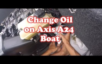 How to Change Oil on Axis A24 Boat 2014