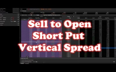 How to 'Sell to Open' Put Vertical Spread SPY on ThinkorSwim Option Trade
