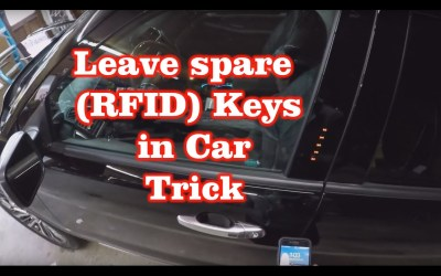 LOST YOUR KEYS? Leave a spare set of Keys (RFID) in Car | Trick