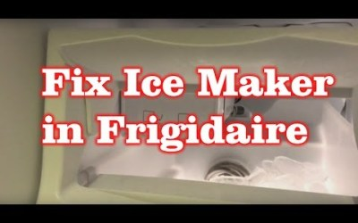 Frigidaire Freezer not making ICE! Replace the Ice Maker! FIXED