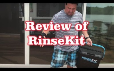 Review of RinseKit – Clean off the Sand on your FEET on the Beach not in your CAR.