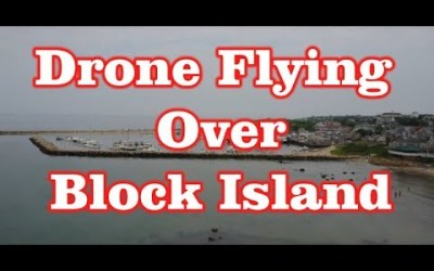 Drone Flying over Block Island, RI