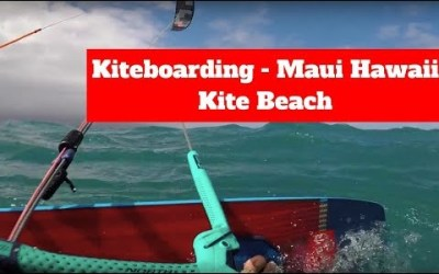 "Kiteboarding ""Kite Beach"" Maui, Hawaii"