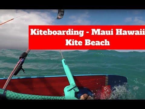 "Kiteboarding ""Kite Beach"" Maui, Hawaii"
