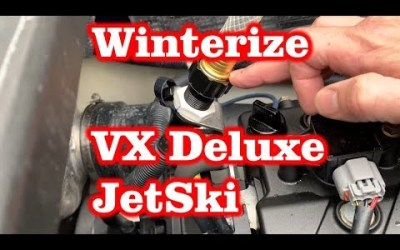 Winterize Yamaha VX Deluxe Jetski – Flush with Antifreeze