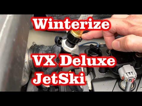 Winterize Yamaha VX Deluxe Jetski – Flush with Antifreeze