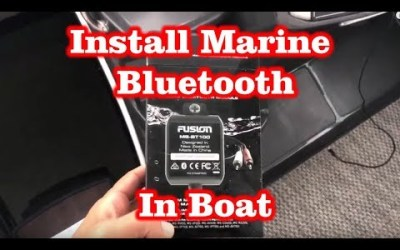 Install Marine Bluetooth Audio Module Fusion MS-BT100 in Monterey Boat