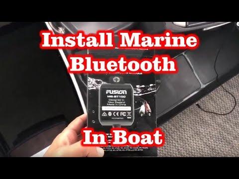 Install Marine Bluetooth Audio Module Fusion MS-BT100 in Monterey Boat