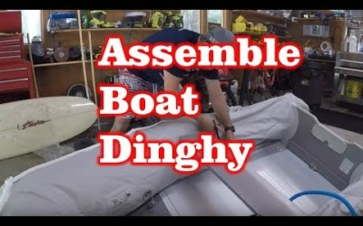 Build / Assemble 9′ Inflatable Boat Tender Raft PVC Dinghy