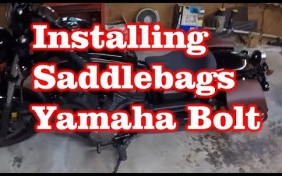 Installing Leather Saddlebags on Yamaha Bolt Motorcycle