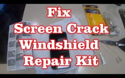 Fix Crack in iPhone XS with Windshield Crack Repair Kit