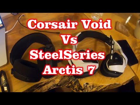 Corsair Void Pro RGB vs SteelSeries Arctis 7 : PC Gaming Wireless Headset Showdown!